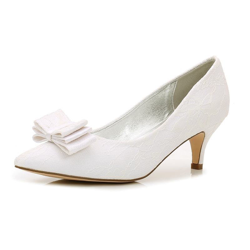 Ericdress Bowknot Slip-On Stiletto Heels Wedding Shoes