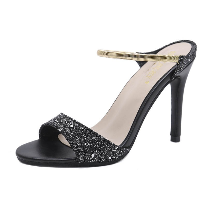 Ericdress Sequin Slip-On Stiletto Heel Mules Shoes