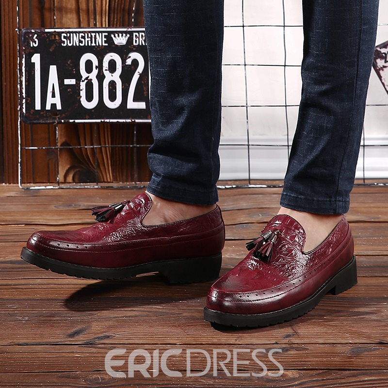 Ericdress Fringe Brush Off Low-Cut Men's Oxfords