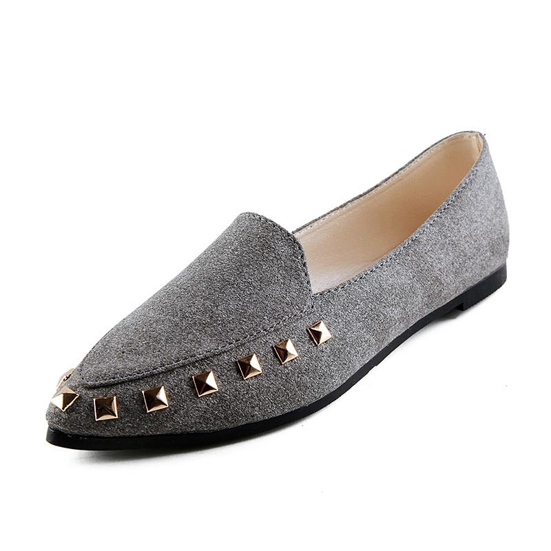 Ericdress Rivet Pointed Toe Slip-On Pumps