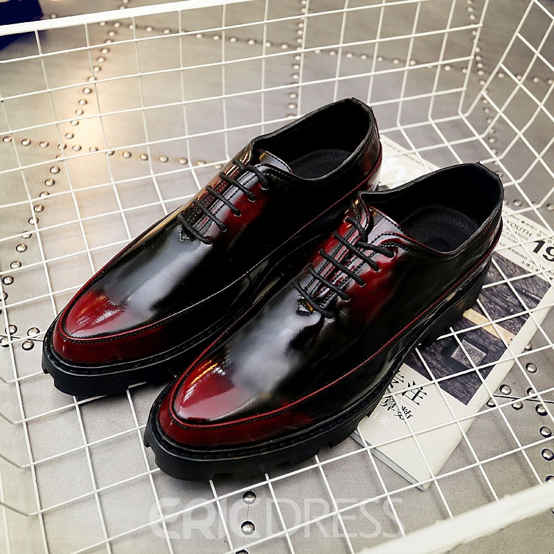 Ericdress Lace-Up Low-Cut Round Toe Men's Oxfords