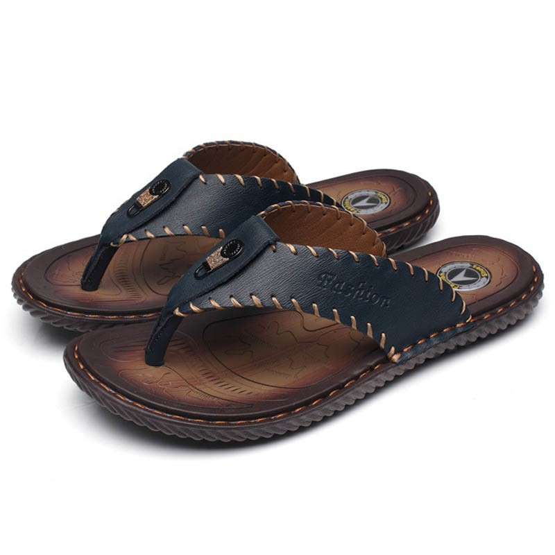 Ericdress Sewing Thong Slip-On Men's Slippers
