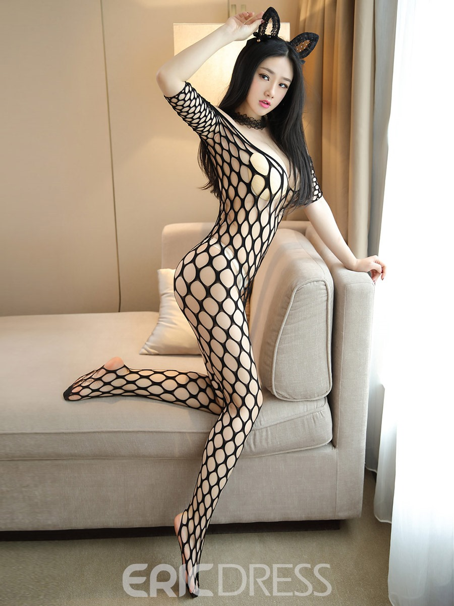 Ericdress Big Fishnet Off-Shoulder Sexy Pantyhose Body Stocking