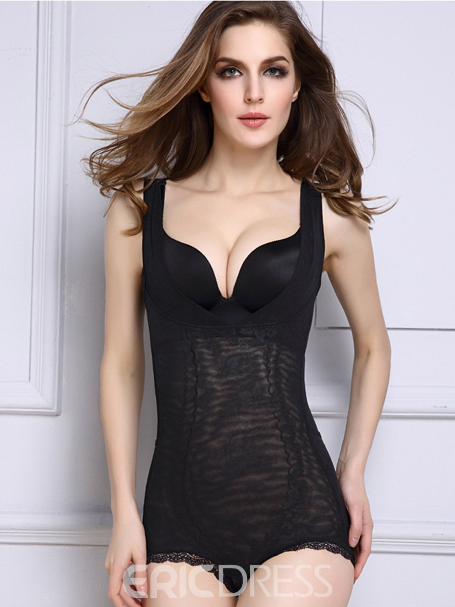 Ericdress Lace Abdomen Shaping Breathable Thin Bodysuit