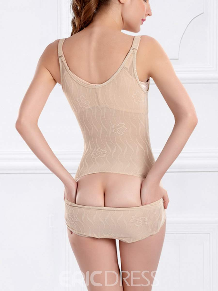 Ericdress Abdomen Shaping Jacquard Breathable Shapewear