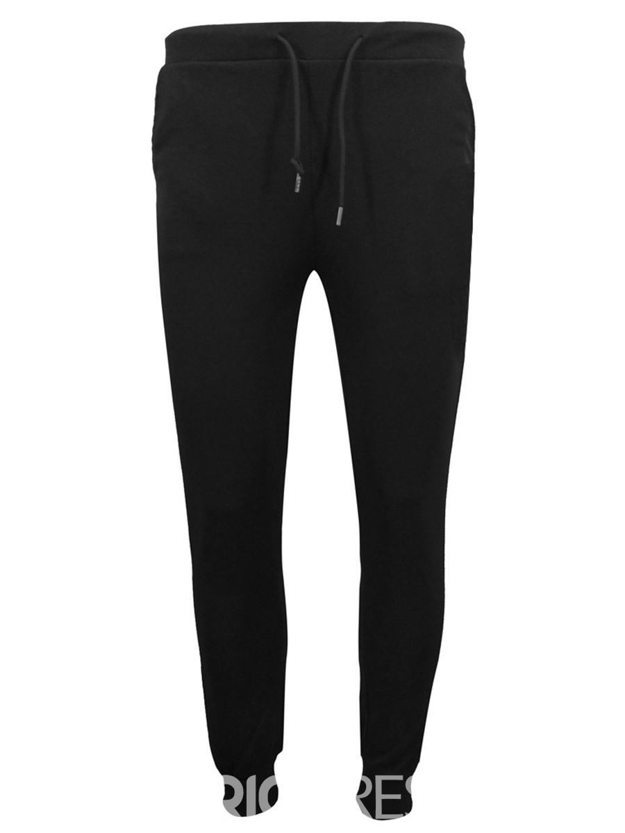 Ericdress Letter Printed Plain Hoodies Lace Up Pants Mens Sports Suits