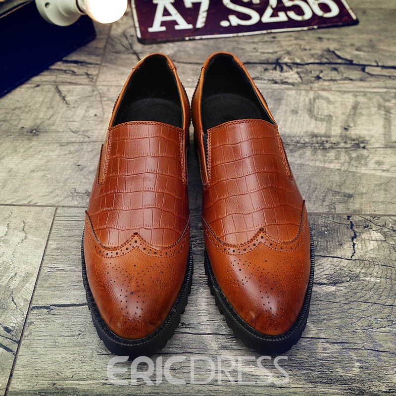 Ericdress PU Plain Slip-On Low-Cut Men's Oxfords