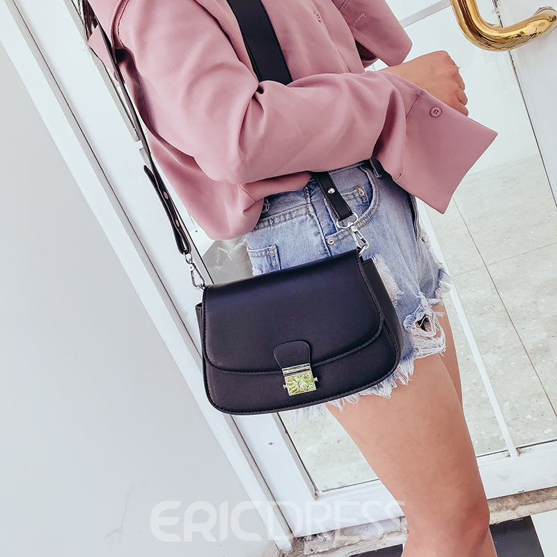 Ericdress Color Block Latch Women Crossbody Bag