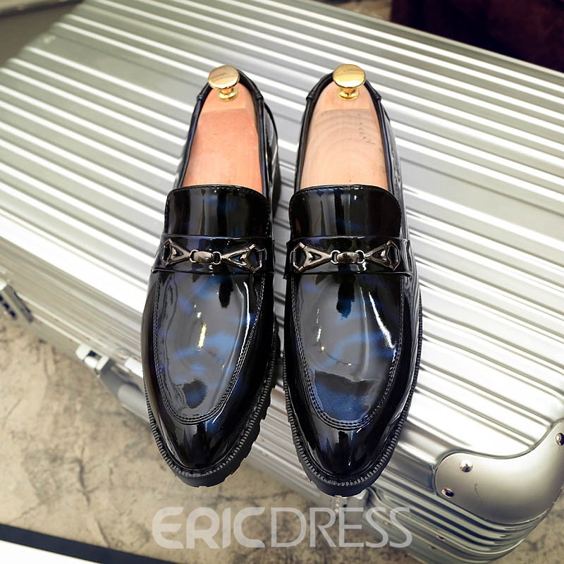 EricdressSequin Slip-On Round Toe Low-Cut Men's Oxfords