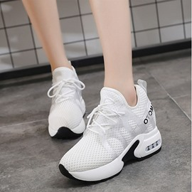 Ericdress Mesh Lace-Up Platform Round Toe Women's Sneakers