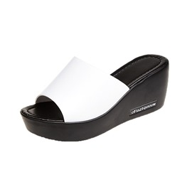 Ericdress PU Platform Plain Slip-On Womens Slides