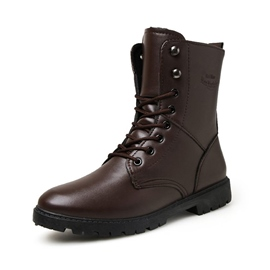 Ericdress Mid-Calf Lace-Up Front Men's Martin Boots