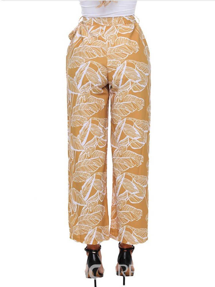 Ericdress Plant Casual Loose Women's Pants