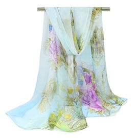 Ericdress Chiffon Simple and Elegant Floral Scarf For Women