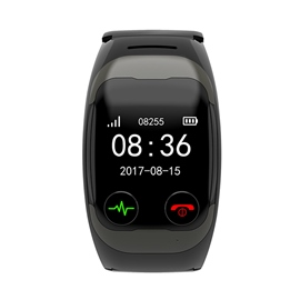 Ericdress Smart ECG Bracelet Blood Pressure Measurement Voice Call SOS Help Electronic Pedometer Smart Watch
