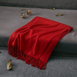 Ericdress Imitation Cashmere Solid-Colored Warm Scarf For Women