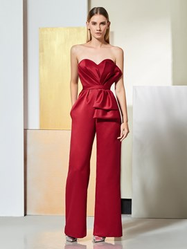 Ericdress Sheath Sweetheart Pleats Prom Jumpsuit