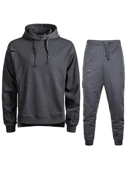 Ericdress Plain Hoodies & Pants Mens Casual Sports Suits