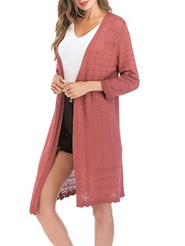 Ericdress Loose Plain Long Sleeves Knitwear
