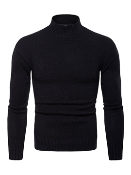 Ericdress Plain Pullover Slim Mens Casual Sweaters