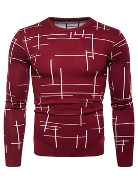 Ericdress Stripped Slim Fitted Mens Casual Knitwear Sweaters