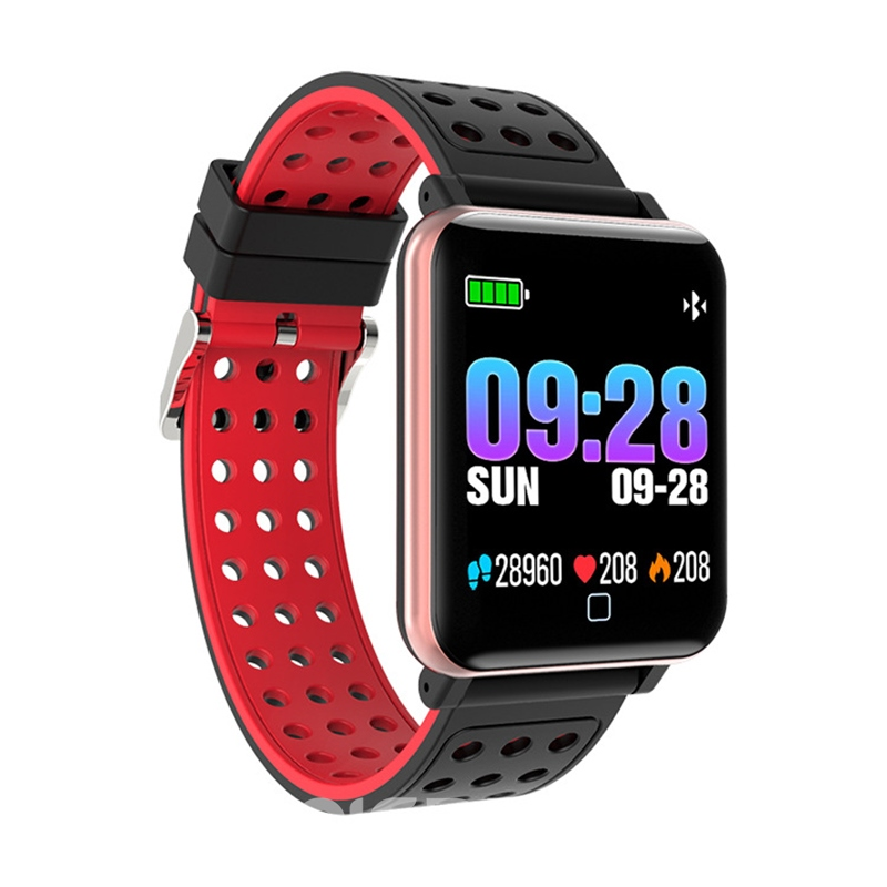 Ericdress M19 Smart Bracelet Heart Rate Color Screen Monitoring Sports Step Bluetooth Waterproof For Android/IOS Phone