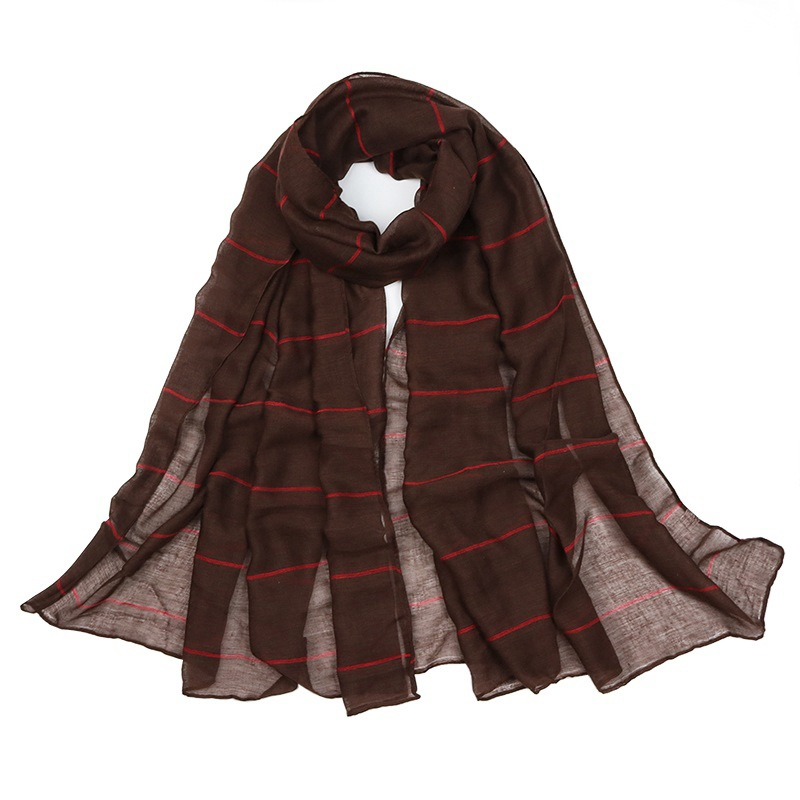 Ericdress TR Striated Cotton Scarf For Women