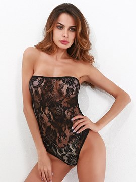 Ericdress Sexy Lingerie Strapless Hollow Teddy Bodysuit