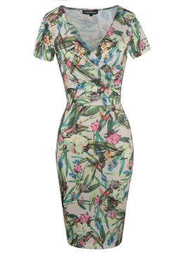 Ericdress Elegant Print Knee-Length Bodycon Women's Dress