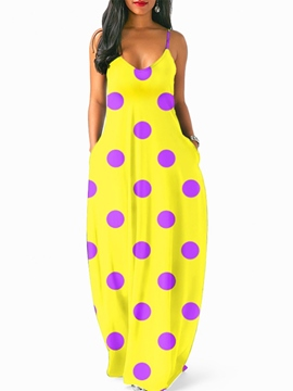 Ericdress Polka Dots Floor Length Women's Dress