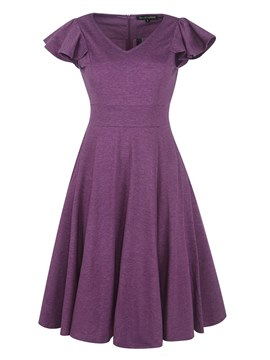 Ericdress Knee-Length A-Line Women's Dress
