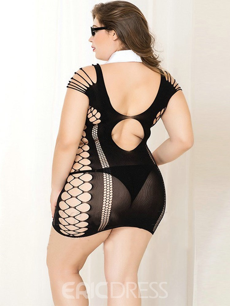 Ericdress Hollow See-Through Sexy Plus Size Chemise Teacher Costume