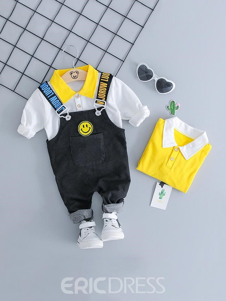 Ericdress Patchwork tT Shirts & Jumsuits Baby Boy's Casual Outfits