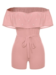 Ericdress Off the Shoulder Womens Rompers