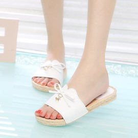 Ericdress Bowknot Flip Flop Mules Shoes with Rhinestone