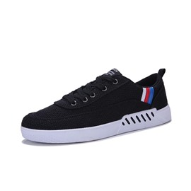 Ericdress Stripe Cloth Lace-Up Low-Cut Men's Sneakers