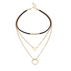 Ericdress Triangle Stack Choker Necklace