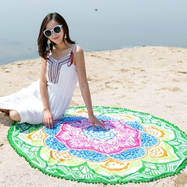 Ericdress Lotus Colorful Beach Shawl