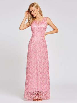Ericdress Scoop Neck Lace Sequins A Line Evening Dress