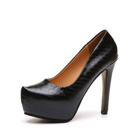 Ericdress Slip-On Platform Round Toe Stiletto Heel Pumps