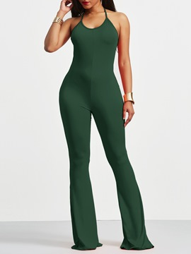 Ericdress Backless Skinny Plain Women's Jumpsuit