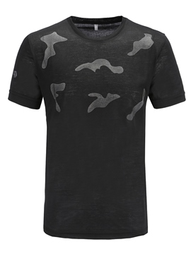 Ericdress Camouflage Printed Straight Mens Scoop T Shirt