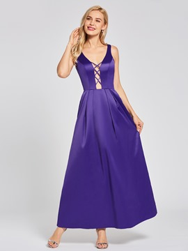 Ericdress Backless A Line Evening Dress