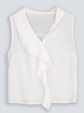 Ericdress Women's Plain Loose Sleeveless Blouse