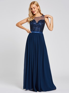 Ericdress Sequins A Line Evening Dress