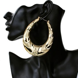 Ericdress Water-Drop Figure Hoop Earring