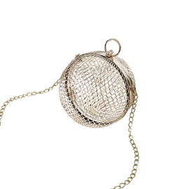 Ericdress Distinctive Metal Cage Crossbody Bag