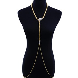 Ericdress Diamante Alloy Body Chain