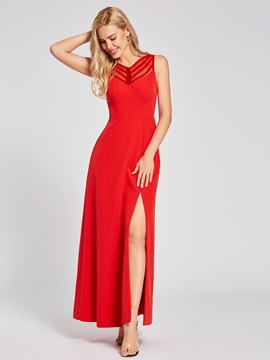 Ericdress Backless Split-Front A Line Evening Dress