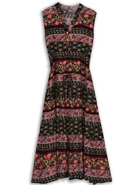 Ericdress Floral Ethnic Ankle-Length Expansion Casual Dress